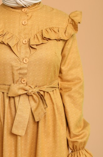 Mustard Hijab Dress 21Y8315-01