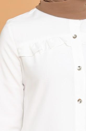 Düğmeli Tunik 1414A-06 Ekru