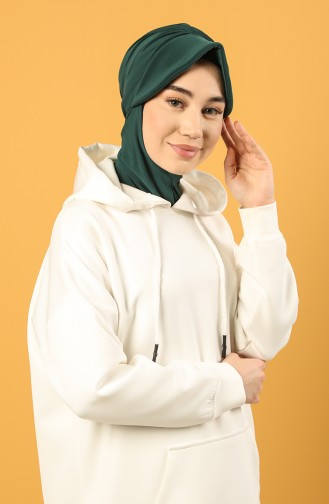 Smaragdgrün Praktischer Turban 0044-04