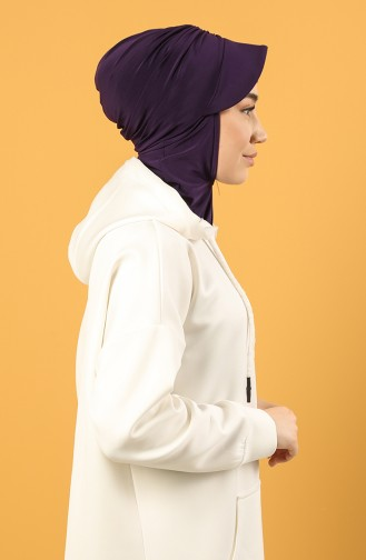 Lila Praktischer Turban 0044-08
