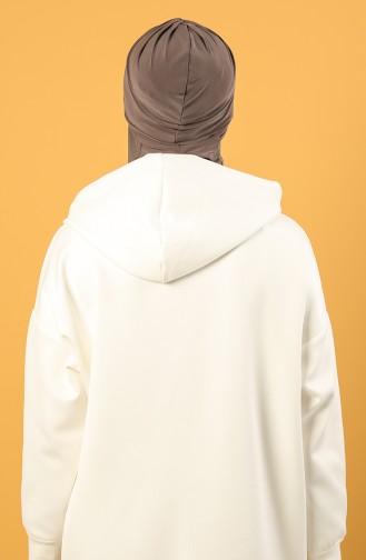 على استعداد لارتداء التوربان بيج داكن مائل الى الوردي 0044-11
