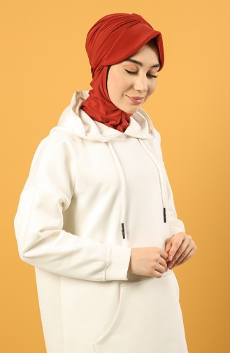 Ziegelrot Praktischer Turban 0044-12