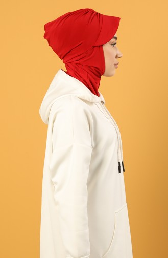 Rot Praktischer Turban 0044-15