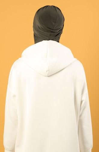 Dunkel Khaki Praktischer Turban 0044-22