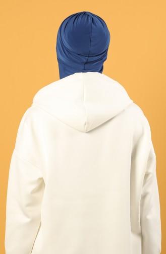 Saks-Blau Praktischer Turban 0044-23