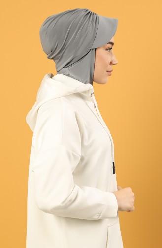 Grau Praktischer Turban 0044-27