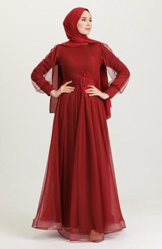 Habillé Hijab Bordeaux 4949-05