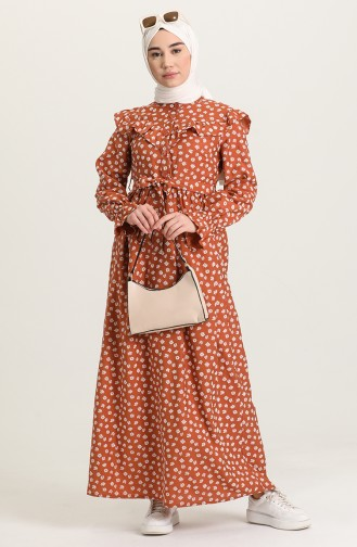 فستان قرميدي 21Y8309-03