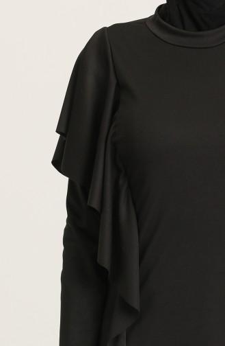 Black Swimsuit Hijab 02125-01