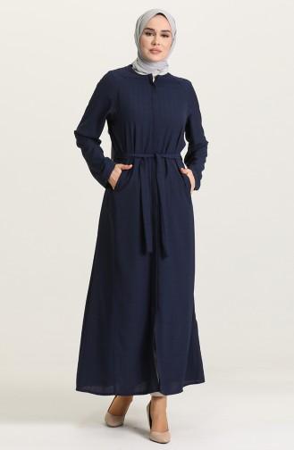 Abayas Bleu Marine 6888-02