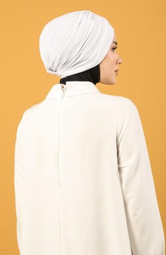 Doppelseitiger Bonnet 0028-06 Weiß 0028-06