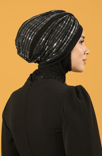 Black Ready to Wear Turban 0045-05