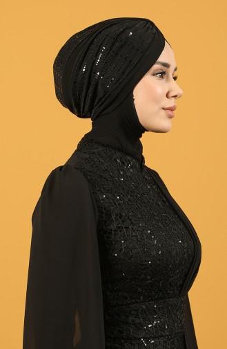 Black Ready to Wear Turban 0045-13