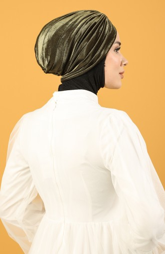Velvet Sequin Vera Bonnet Khaki 0039-03