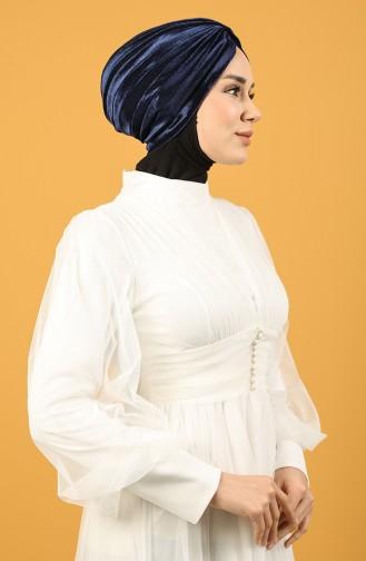 Velvet Sequin Vera Bonnet Navy Blue 0039-16