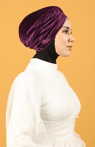 Velvet Sequin Vera Bonnet Purple 0039-06