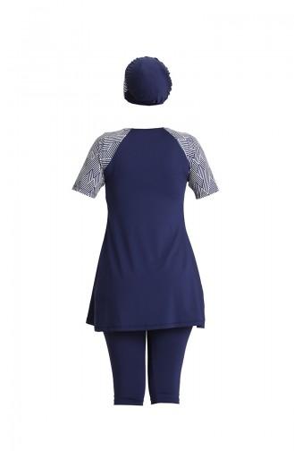 Navy Blue Modest Swimwear 2033