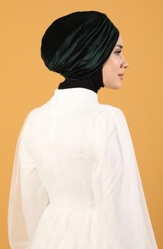 Velvet Sequin Vera Bonnet Emerald Green 0039-09