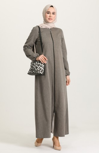 Gray Abaya 3062-01