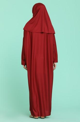 Robe de Prière Bordeaux clair 4537-11