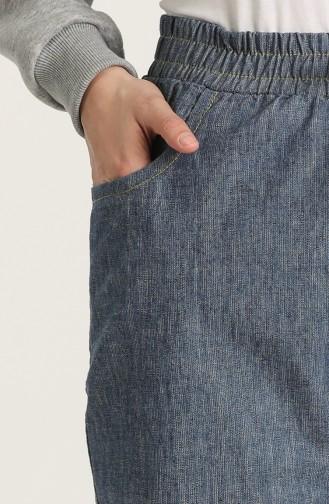 Pantalon Bleu Marine Foncé 3500B-02