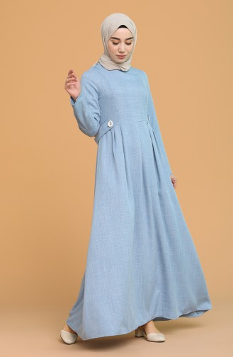Robe Hijab Bleu 3272-02
