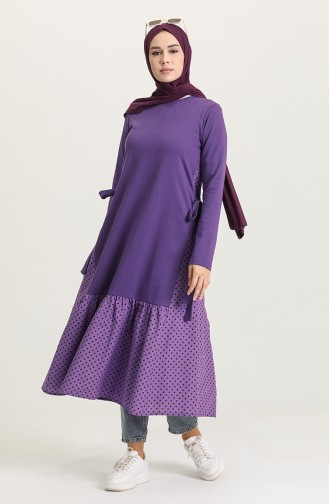 Robe Hijab Pourpre 3278-02