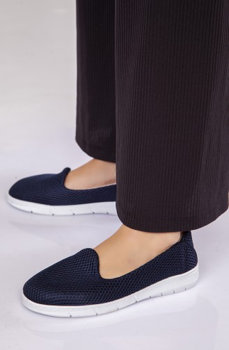 Dunkelblau Tägliche Schuhe 3650-01