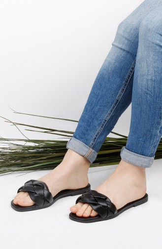 Black Summer Slippers 010-01