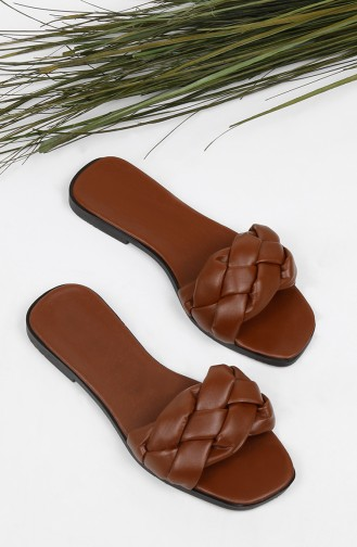 Tobacco Brown Summer slippers 010-09
