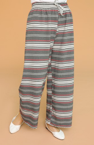 Beli Lastikli Bol Paça Pantolon 4197-01 Füme
