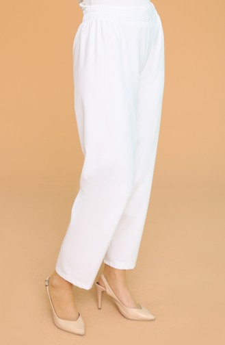 Elastic Waist Trousers 1983-18 Milk Brown 1983A-07