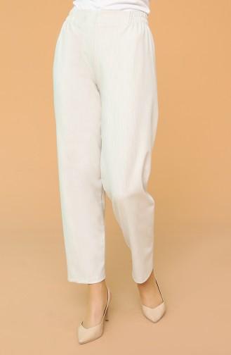 Elastic Waist Trousers 1983-18 Milk Brown 1983F-03
