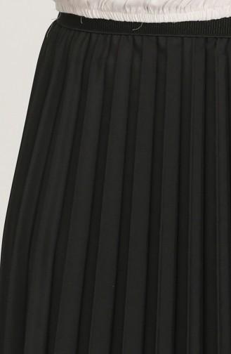 Pilise Detaylı Etek 2453-01 Siyah