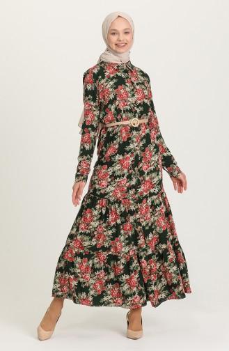 فستان أخضر حشيشي 0401-02