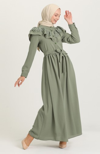 Robe Hijab Vert eau 5052-04