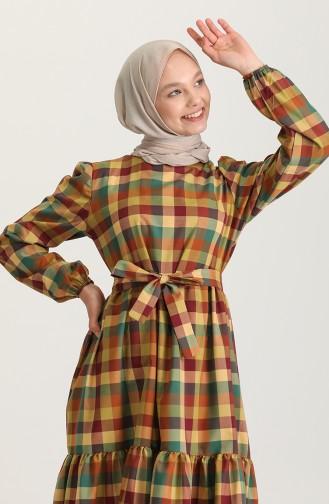 Robe Hijab Vert huile 5340-01