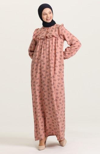 Robe Hijab Rose Pâle 21Y8337-03