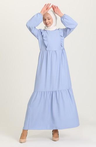 Robe Hijab Bleu 21Y8356-08