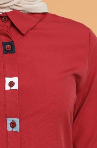 تونيك أحمر كلاريت 6437-12