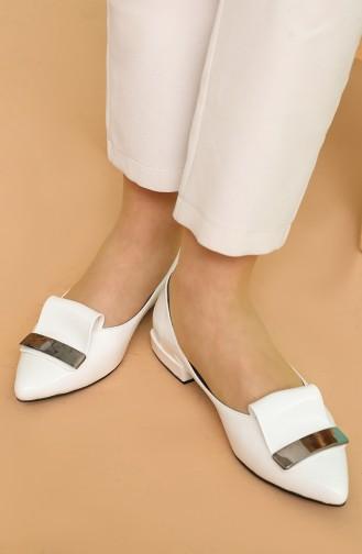 Ballerine Pour Femme Blanc 3-4-06