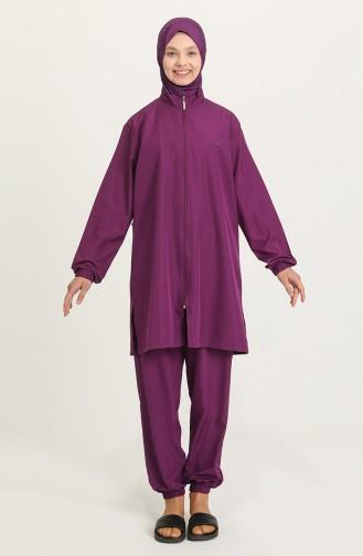 Purple Swimsuit Hijab 21215-02