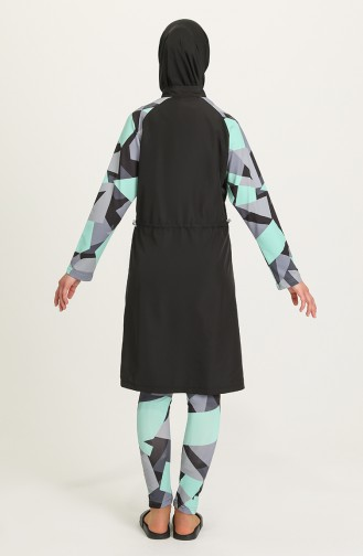Black Modest Swimwear 21406-01