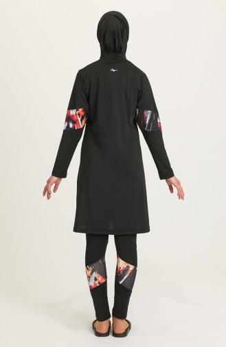 Maillot de Bain Hijab Noir 21612-01