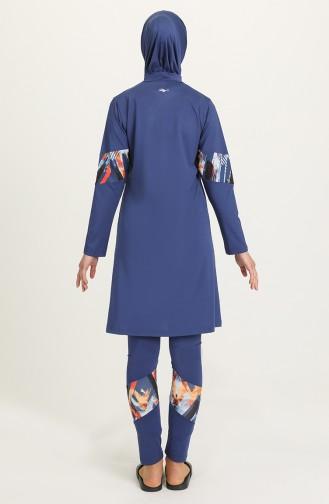 Indigo Hijab Badeanzug 21612-02