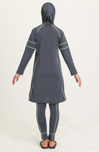 Anthrazit Hijab Badeanzug 21624-04