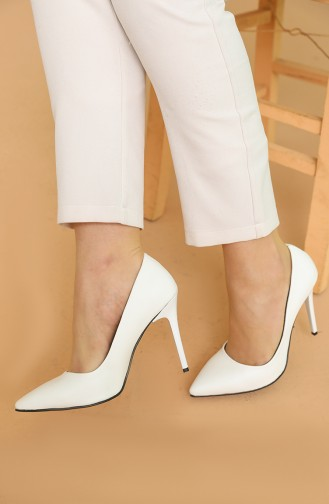 White High-Heel Shoes 150-01