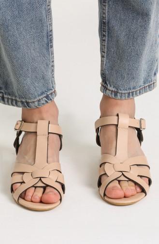 Bayan Sandalet Y5-15-02 Ten Cilt