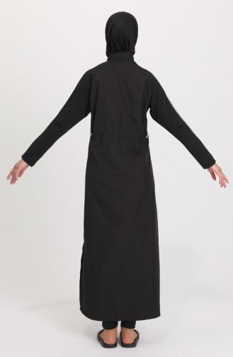 Black Swimsuit Hijab 21501-01