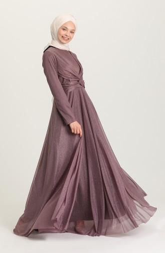 Lila Hijab-Abendkleider 5397-04